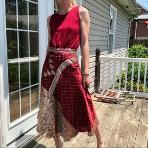 Gorgeous red & gold wrap skirt
